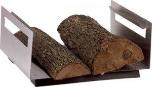 Leñero rectangular en acero inoxidable, 48'10€.