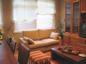 persianas en el salón