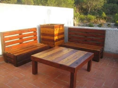 palets de madera jardín