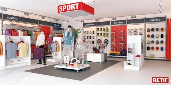 Decoración para tienda deporte