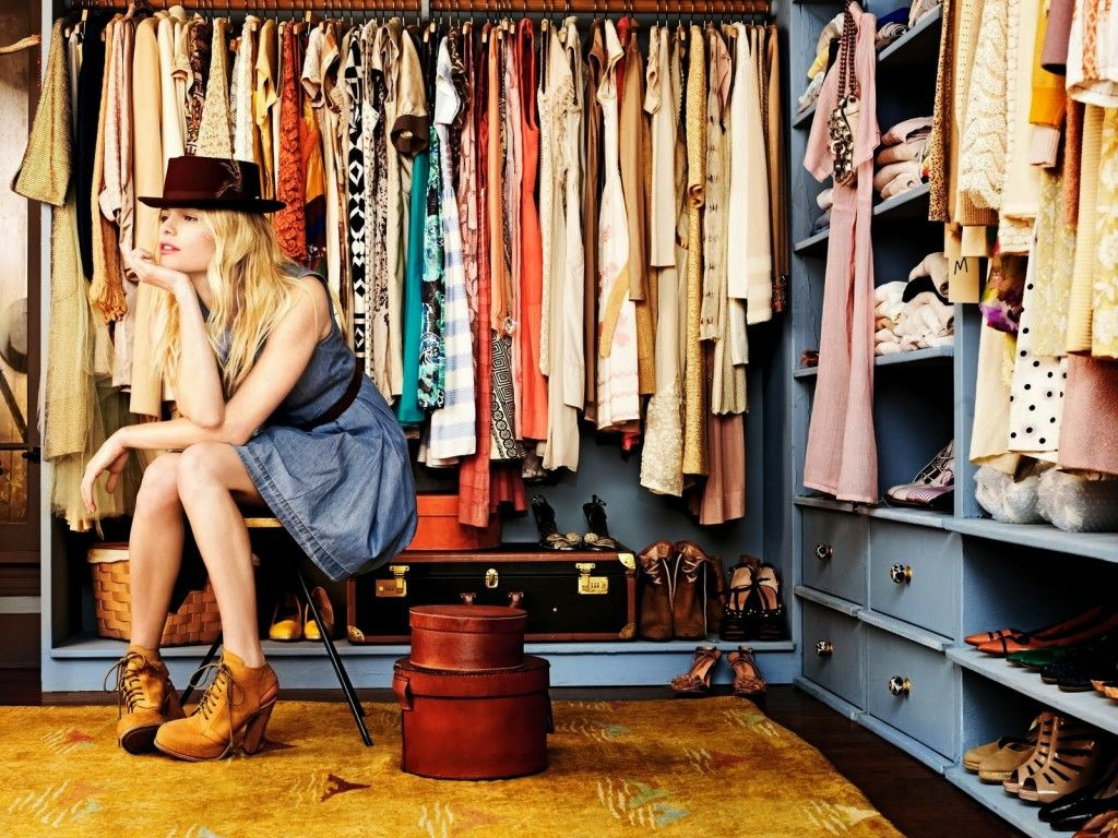 Cambio de ropa en el armario