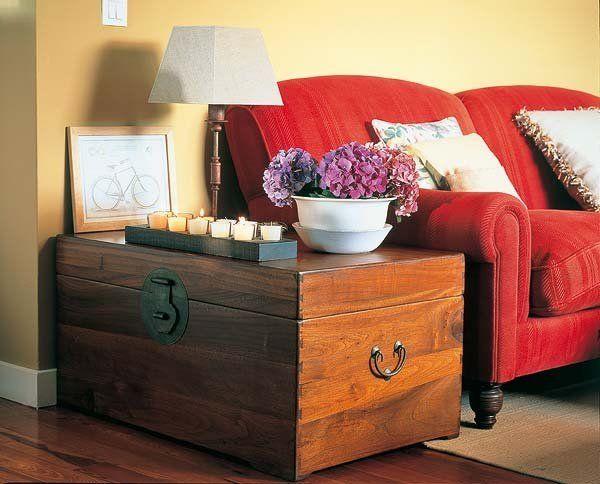 Un baúl sirve de mucho en un piso pequeño