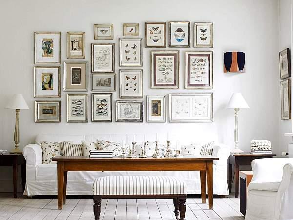 Marcos de fotos en las paredes